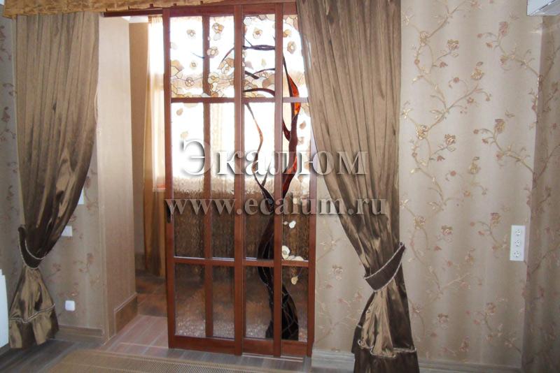 Раздвижные межкомнатные двери - стеклянные, на заказ в экалю.